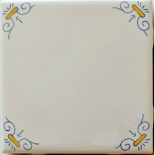 Blue and Yellow Ram (White Tile)